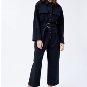Urban Outfitters Black Belted Cargo Long Sleeve Jumpsuit Women's Size S